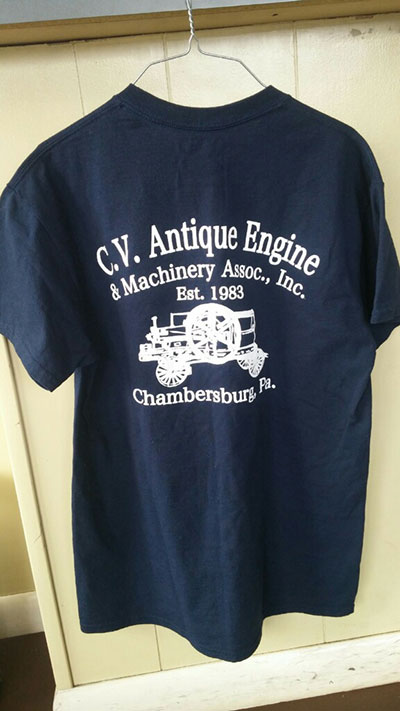 Cumberland Valley Antique Engine & Machinery T-Shirt Back